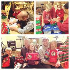 celebrating 20th anniversary operation christmas child collects