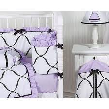 sweet jojo designs princess black white and purple collection 9pc