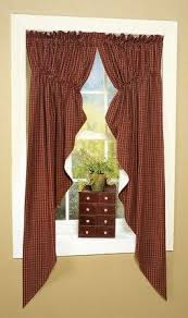Primitive Swag Curtains Virginia House Swag Curtains As Featured In Country Sler