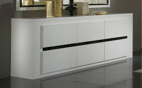 Buffet bahut design 3 portes laqué blanc et noir Adriana Bahut
