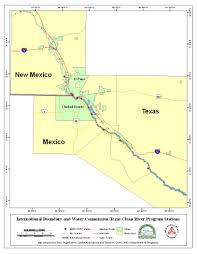 Map Of Rio Grande River Paso Del Norte Watershed Council Coordinated Database And Gis