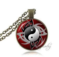 aliexpress yang ying yang necklace black white cross pendant tai ji jewelry glass