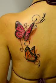creative 3d butterfly on back the ask idea