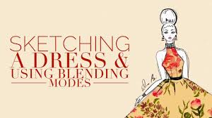 how to draw a summer dress fashion illustration on sketches pro