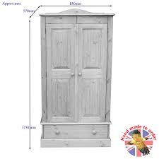 Cottage Pine Furniture by Pine Low All Hanging Wardrobe