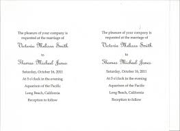 Invitation Card Format For Marriage Wedding Invitation Card Format Infoinvitation Co