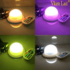remote control battery lights dhl free shipping 48leds rechargeable rgb 16 colors led battery l
