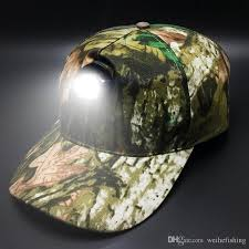 2017 bright fishing led light caps camouflage outdoor breathable