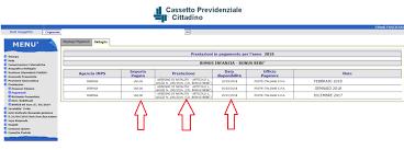 cassetto previdenziale cittadino inps come visualizzare i pagamenti sul sito inps centro servizi volturno