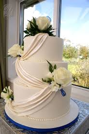 classic wedding cakes classic wedding cake shimmering white swags cakecentral