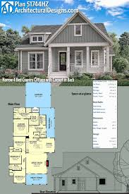 narrow cottage plans plan 51744hz narrow 4 bed country cottage with carport in back