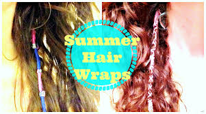boho hair wraps diy summer hair wraps feathers and