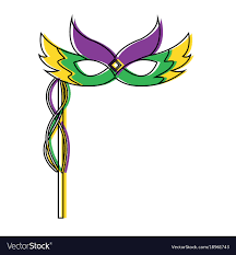 mardi gras feathers mardi gras carnival mask with feathers and vector image