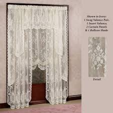 French Lace Kitchen Curtains Creative Ideas Lace Curtains Easy Style Carly Lace Curtain Panel