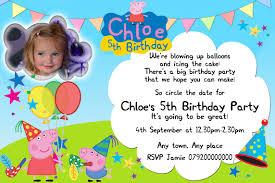 5th birthday party invitation peppa pig birthday party invitations cimvitation