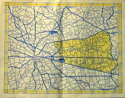 Map Of Dc Area 1960 U0027s Road Maps Of Pennsylvania