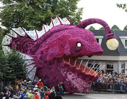 dahlias flowers we created an anglerfish out of 200 000 dahlias flowers