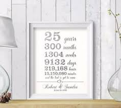 25th anniversary gifts for parents 25th wedding anniversary gift for parents silver anniversary 25