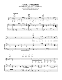 mr mustard mr mustard sheet by the beatles piano vocal guitar