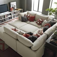 Unusual Ottomans by Sofas Center Sectional Pit Sofa Malibu Slipcovered Furniture