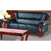 Traditional Leather Sofas Bella Burgundy Traditional Leather Sofa With Wood Accents