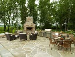 Outdoor Fieldstone Fireplace - outdoor fireplace pictures gallery landscaping network