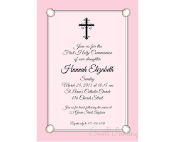 Holy Communion Invitation Cards Samples Pink Confirmation Invitation Confirmation Invitation