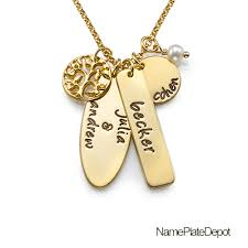 personalized engraved necklaces family tree of necklace with name genuine pearl