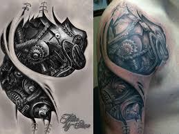 tattoo 3d mechanical mechanical tattoo by stonetat2 on deviantart