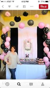 Pink And Black Minnie Mouse Decorations Black And Pink Party Decorations Paper Lanterns Pink Party
