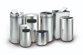Canopy Trash Can by Stainless Steel Garbage Can Steel Trash Can Commercial Zone