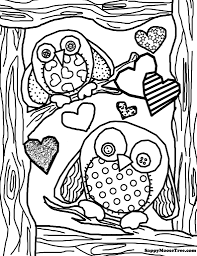 Printable Owl Coloring Page Pages Birds Hard Color Animal Owl Color Pages