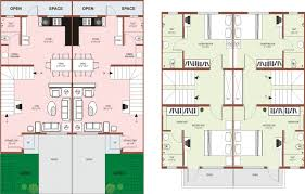 indian row house floor plans row house plans free home design