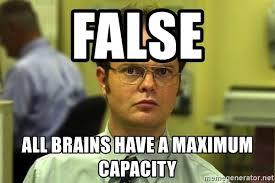 Dwight Schrute Meme - false all brains have a maximum capacity dwight schrute meme