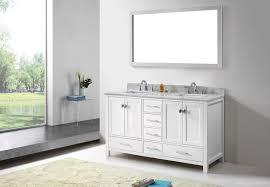 2 Sink Vanity Virtu Usa 60 Inch Caroline Avenue Double Sink Vanity In White