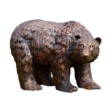 spi home 50751 rust finish garden bear statue the mine