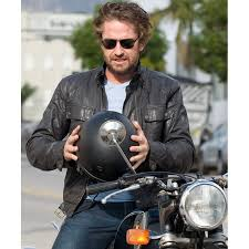 biker jacket sale gerard butler motorcycle jacket black faux leather biker jacket