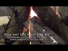 Gas Fire Pit Logs by Colorado Custom Fire Pit Steel Logs For Gas Fire Pit Youtube