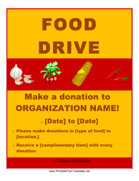 food drive flyer png