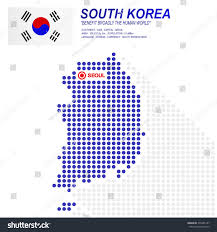 Seoul Flag Dot Style South Korea Map Flag Stock Vector 376485157 Shutterstock