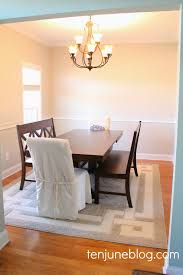 ten june dining room paint makeover sherwin williams agreeable gray