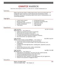resume cover letter for legal secretary