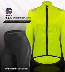 cycling windbreaker jacket women s usa cycling windbreaker jacket made in usa