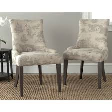 safavieh en vogue dining lester taupe print dining chairs set of