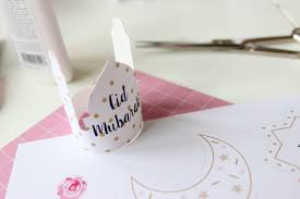 preparing some crafts gifts or cakes for eid free printable eid