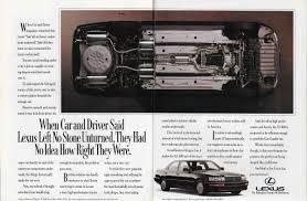 Vintage Ad Outtake 1990 Infiniti Versus 1990 Lexus U2013 Two Very