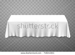 table tablecloth white on transparent background stock vector