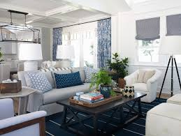 Cream And White Curtains Cream And Navy Living Room Beach Style With Blue And White Curtain