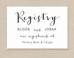 wedding registration list wedding registry etsy