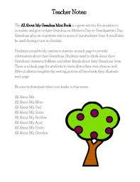about my grandma mini book templates